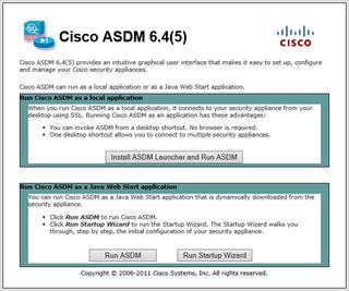 ASDM Launch Screen