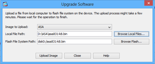 Uploading firmware upgrade