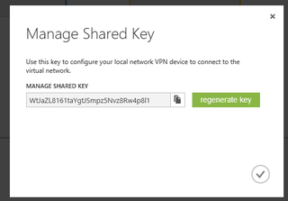 Copy Your Shared Key