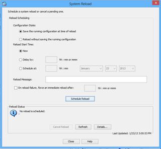 Restarting the VPN